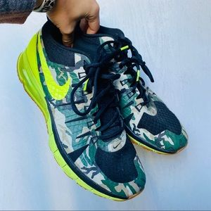 Nike Air Max TR1 180 Camouflage & Neon Sneakers